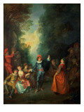 A Rustic Party Giclee Print by Nicolas Lancret