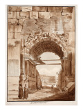 The Arch of Titus in 1788, 1833 Giclee Print by Agostino Tofanelli