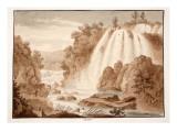 Cascade at Tivoli, 1833 Giclee Print by Agostino Tofanelli