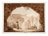 The Waterfalls at Tivoli, 1833 Giclee Print by Agostino Tofanelli