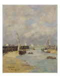 Low Tide at Trouville, 1895 Premium Giclee Print by Eugène Boudin
