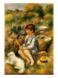 Young Boy by a Brook, 1890 Giclee Print by Pierre-Auguste Renoir