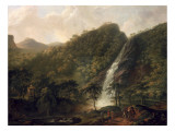 View of Powerscourt Waterfall Giclee Print by George Barret