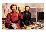 Pierre Curie and Marie Curie Premium Giclee Print by  McConnell