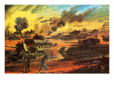 The Battle of El Alamein Giclee Print by Graham Coton