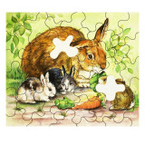 Rabbit Family Jigsaw Giclee Print by  English School