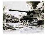 Tanks in the Streets Giclee Print by Graham Coton