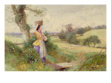 The Milkmaid, 1860 Giclee Print by Myles Birket Foster