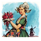 Dutch National Costume Giclee Print by  McConnell