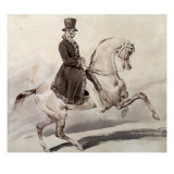 Rider in a Coat Edged with Fur Giclee Print by Theodore Gericault
