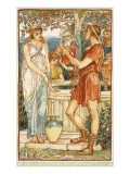 Bellerophon at the Fountain Premium Giclee Print by Walter Crane