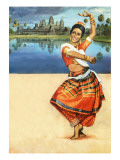 Odissi Dance of India Giclee Print by  English School