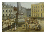View of the Town Hall, Potsdam Giclee Print by  German School