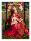 Virgin and Child Giclee Print by  Master of the Embroidered Foliage