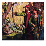 Robin Hood and Maid Marian Giclee Print by  McConnell