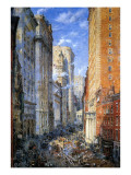 Broad Street, New York, C.1904 Giclee Print by Colin Campbell Cooper