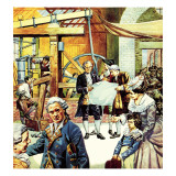 James Watt's Steam Engine Giclee Print by  English School