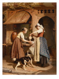 At the Dairy, 1866 Giclee Print by Theodore Gerard