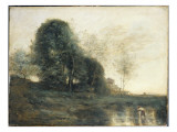 Memory of Italy, C.1868-70 Giclee Print by Jean-Baptiste-Camille Corot