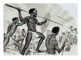Aborigines under Attack Giclee Print by  Mcbride