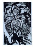 Mountain Lad in Storm, 1921 Giclee Print by Ernst Ludwig Kirchner