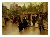 Leaving La Madeleine Giclee Print by Jean Béraud