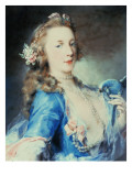 A Young Lady with a Parrot Giclee Print by Rosalba Carriera