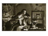 James Watt and the Steam-Engine Reproduction procédé giclée par Marcus Stone