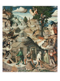 Mining Landscape, 1521 Giclee Print by Hans Hesse