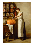 Cutting the Pumpkin, 1910 Giclee Print by Franck-Antoine Bail