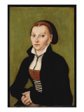 Portait of Katharina Von Bora Giclee Print by Lucas Cranach the Elder