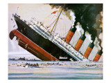 Sinking of the Lusitania Giclee Print by John S. Smith