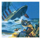 Sinking of the Titanic Giclee Print by  English School