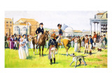 A Day at the Races Giclee Print by Eric Parker