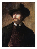 Self Portrait, 1853 Giclee Print by Eastman Johnson