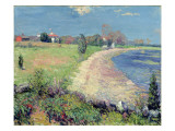 Curving Beach, New England Premium Giclee Print by William James Glackens