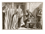 Investiture of a Saxon Bishop Giclee Print by F.h. Townsend