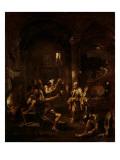 St. Peter Denying Christ Giclée-tryk af Alessandro Magnasco