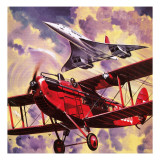 The Story of Britain's Airlines Giclee Print by Wilf Hardy