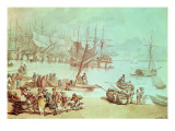 Portsmouth Harbour Giclee Print by  Rowlandson