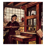 Caxton's Printing Press Giclee Print by McConnell