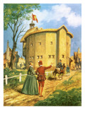 The Newly Built Globe Theatre Giclee Print by Peter Jackson