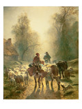 Setting Off for Market Giclee Print by Constant-emile Troyon