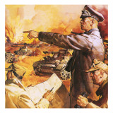 Field Marshal Rommel Lámina giclée por English School