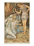 Perseus and the Graia Giclee Print by Walter Crane