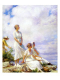 Summer Clouds, 1917 Premium Giclee Print by Charles Courtney Curran