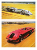 The Land Speed Record Giclee Print by Graham Coton