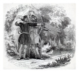 Robin Hood and Little John Giclee Print by  English School