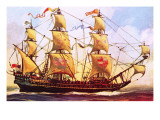 The Spanish Galleon Giclee Print by  English School