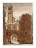 The Temple of Mars Ultor, 1833 Giclee Print by Agostino Tofanelli
